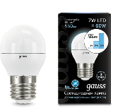 Gauss Лампа LED Globe 7W E27 4100K step dimmable